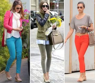 Модные цветные джинсы