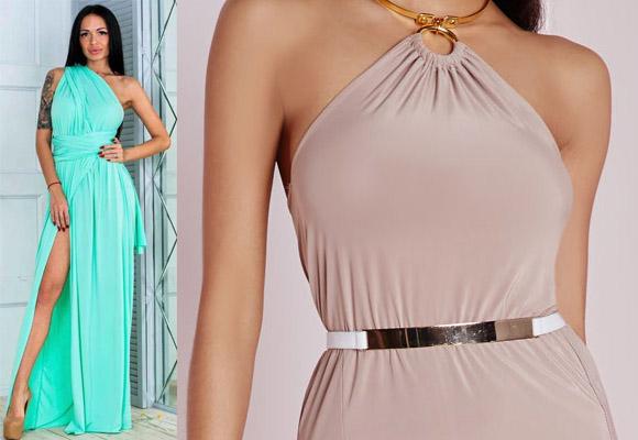 Платье из ткани масло