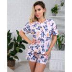 Пижамы легкие (футболка и шорты)