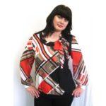 Трикотажные блузки итуники больших размеров